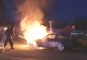 Vehicle Fire Reported in Great Mills