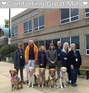 K-9 Comfort Dogs Visit Great Mills High School
