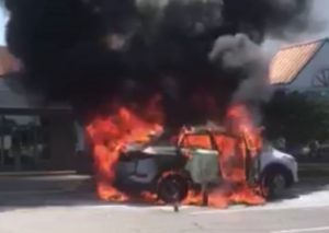 UPDATE: 90-Year-Old Man Severely Injured in Car Fire at Wildewood Shopping Center