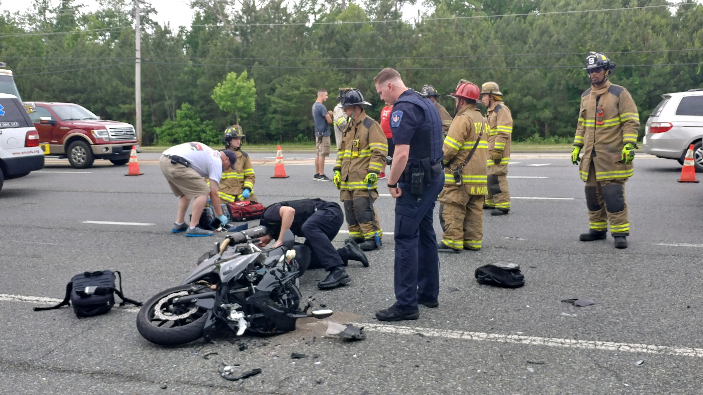 Serious Motor Vehicle Accident Involving a Motorcycle in