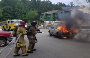 VIDEO: Firefighters Respond to Vehicle Fire in Lexington Park