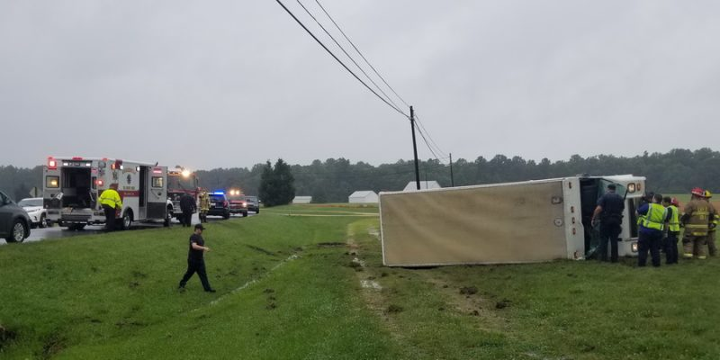 Driver Injured After FedEx Truck Rolls Over in Helen | Southern