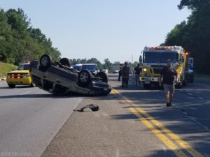 Two Injured in Rollover Crash in California