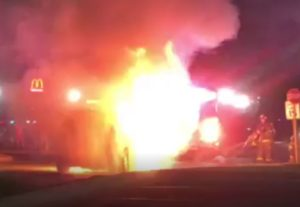 VIDEO: Vehicle Fire at Food Lion in Leonardtown