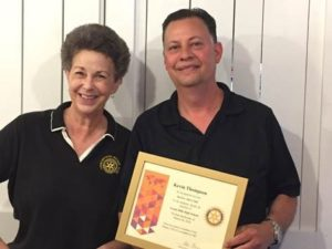 Leonardtown Rotary Recognizes Kevin Thompson