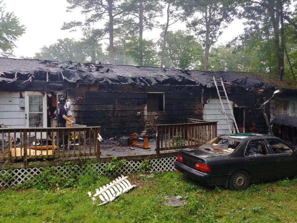 House Fire Reported in Lusby