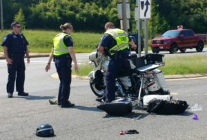Motorcyclist and Passenger Flown to Area Trauma Center After