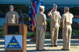 Lemmon Assumes Command of Naval Air Warfare Center Aircraft Division from Gahagan
