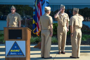 Lemmon Assumes Command of Naval Air Warfare Center Aircraft Division from Gahagan
