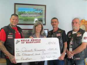 Calvert Hospice Recipient Of Generous Donation From Hell's Angels MD Bike & Car Show