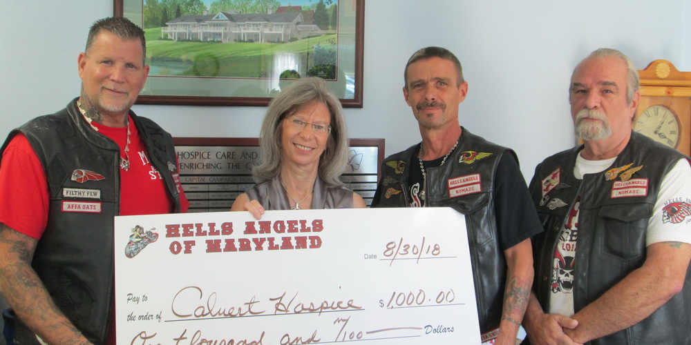 calvert hospice recipient of generous donation from hell u0026 39 s