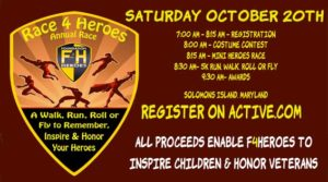 Foundation 4 Heroes will host Race 4 Heros October 20th on Solomons Island