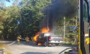 Firefighters Quickly Extinguishes Vehicle Fire in California