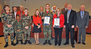 Community Alcohol Coalition Partners and Young Marines Join Commissioners in Committing to a Drug Free Lifestyle