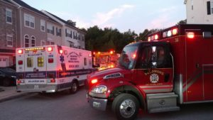 Two People Hit by Vehicle in Townhouse Garage