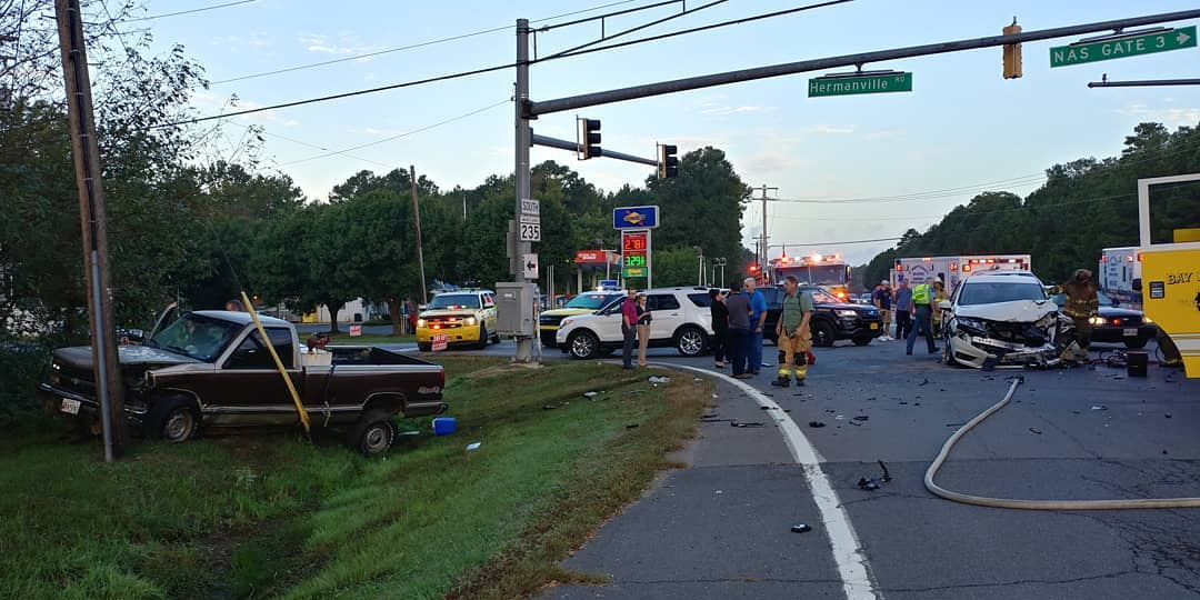 Two Injured In Lexington Park Motor Vehicle Accident