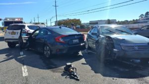 Four Car Pile up on Three Notch Road Sends One to Hospital