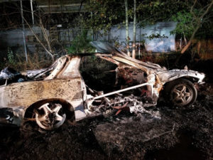 VIDEO: Vehicle Destroyed by Arson in Mechanicsville