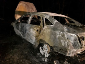 Firefighters in Indian Head Find 2018 Ford Focus Fully Engulfed in Flames