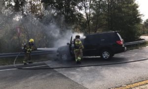 Maryland State Trooper Pulls Victim From Vehicle Seconds Before it Catches Fire in Prince Georges County