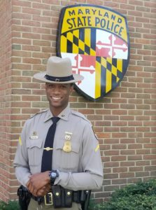 MSP Leonardtown Barrack's Trooper of the Month for October 2018 is TFC Marcus Manning