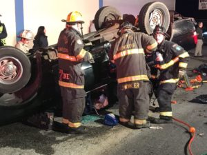 Elderly Female Sent to Trauma Center After Rollover in Hollywood