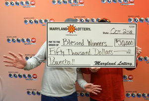 Lucky Pair of From St. Mary's County Win $50,000 prize in Powerball Drawing