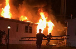 Fire that Destroyed Trailer in Lothian Under Investigation
