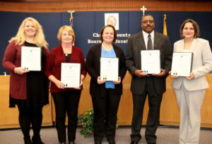 Board of Education Honors Five Exemplary Charles County Public School Staff for Commitment to Teaching and Learning