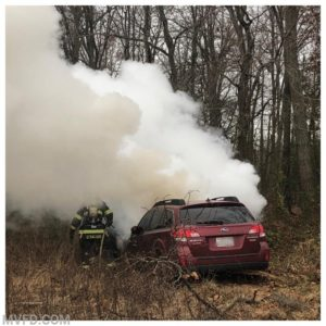 Firefighters Respond to Vehicle Fire in Mechanicsville