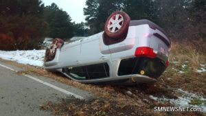 One Injured After Vehicle Overturns in St. Mary's City