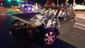 No Injuries Reported After Late Night Motor Vehicle Accident in California