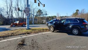 Two Injured After Motor Vehicle Accident in Lexington Park