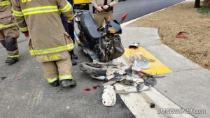 Motorized Scooter Crashes in Car in Lexington Park