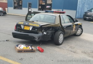 UPDATE: Maryland State Police Cruiser Struck by Another Vehicle While Running Radar in Charlotte Hall