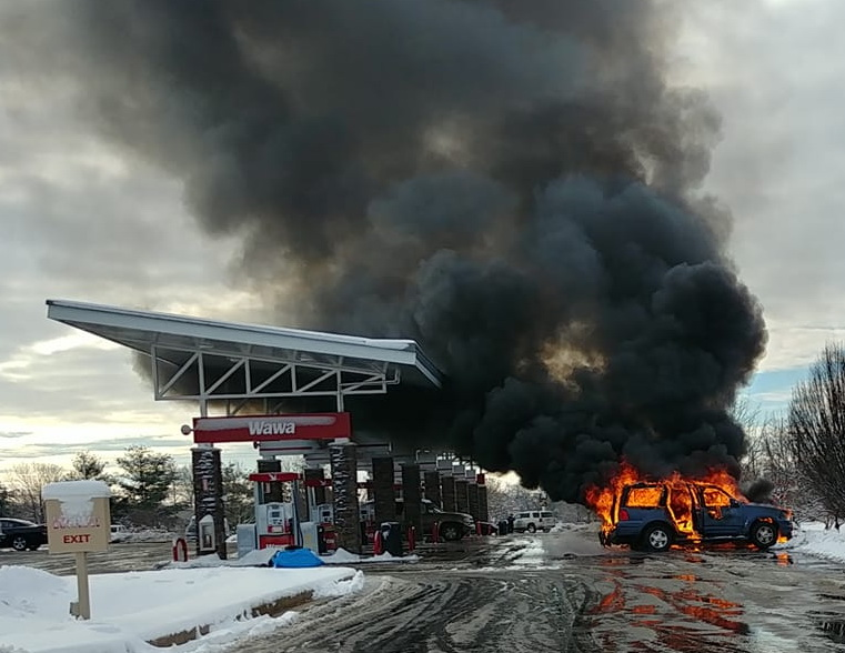 VIDEO: Car Fire Reported at Wawa in Charlotte Hall   Southern