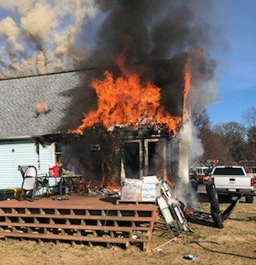 St. Leonard House Fire Caused by Improperly Discarded Smoking Materials