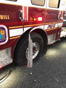 Prince Georges Volunteer Fire Department Engine Struck While on Scene of Motor Vehicle Accident