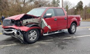 Three Injured After Motor Vehicle Accident on Great Mills Road