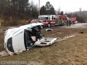 Elderly Female Extricated from Single Vehicle Crash in Cobb Island
