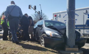 One Person Injured in Motor Vehicle Accident in Great Mills