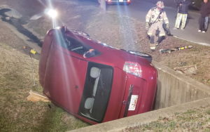 Impaired Driving Suspected in Single Vehicle Rollover Crash in Lexington Park
