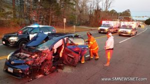 Minor Injuries Reported After Motor Vehicle Accident in Lexington Park