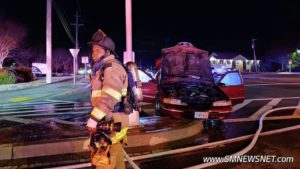 No Injuries Reported in Single Vehicle Crash That Results in Vehicle Fire in Lexington Park