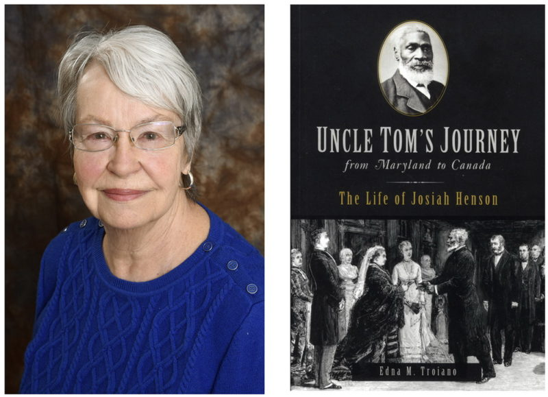 """Novelist Edna Troiano will read from her latest book, """"Uncle Tom's Journey from Maryland to Canada,"""" which traces the life of Josiah Henson from his birthplace in La Plata during CSM's Connection Series April 5."""