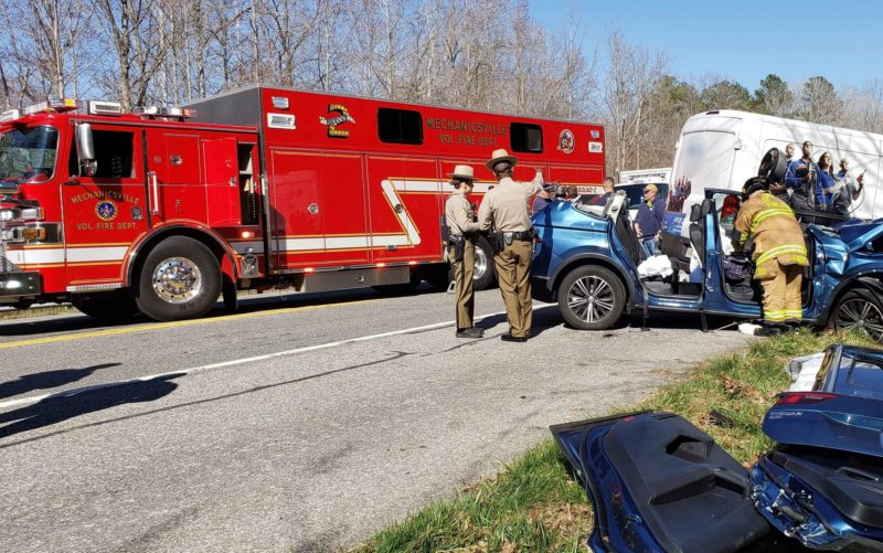One Patient Flown to Area Trauma Center After Motor Vehicle Accident