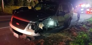 Motor Vehicle Accident in Chaptico Sends One to Hospital with Minor Injuries