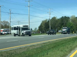 STS Bus Involved in Motor Vehicle Accident in Leonardtown