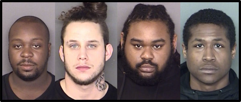 Divante Quintil Kyler, 27, of California, Timothy Patrick Hogan, 27, Jalonte Dalquan Ford, 20, and Jajuan Dalshawn Ford, 23, all of Great Mills