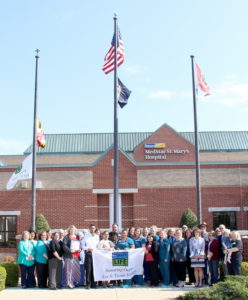 Donate Life Month Celebrated with Flag-Raising at MedStar St. Mary's